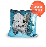 Poduszka, cekiny, Leniwiec, 30x30 cm
