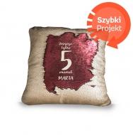 Poduszka, cekiny, Minutka, 30x30 cm