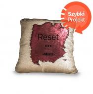 Poduszka, cekiny, Reset, 30x30 cm
