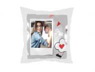 Poduszka, satyna, I love you, 25x25 cm