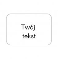 Brelok Twój tekst, 6x4 cm
