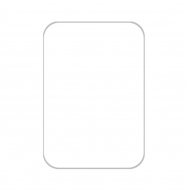 Brelok Pusty szablon, 4x6 cm