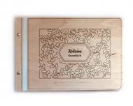 Album drewniany Rodzinny, 34x23 cm
