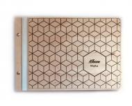 Album drewniany Geometryczny, 34x23 cm