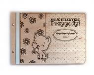 Album drewniany Przygody, 34x23 cm