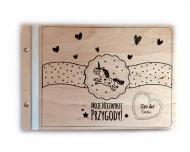 Album drewniany Jednorożec, 34x23 cm