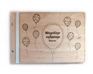 Album drewniany Balony, 34x23 cm