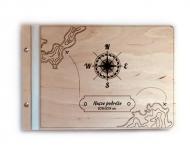 Album drewniany Mapa, 34x23 cm