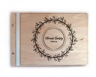 Album drewniany Chrzest, 34x23 cm
