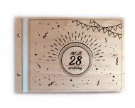 Album drewniany Moje urodziny, 34x23 cm
