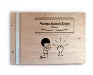 Album drewniany Komunia chłopca, 34x23 cm