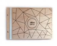Album drewniany Linie, 34x23 cm