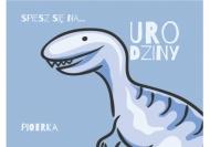 Zaproszenia Dinozaur, 15x10 cm