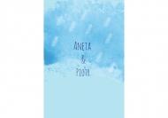 Zaproszenia Błękitne, 10x15 cm