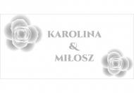 Zaproszenia Eleganckie ślubne, 20x10 cm