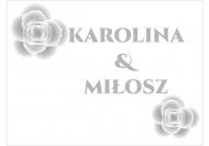 Zaproszenia Eleganckie ślubne, 20x15 cm