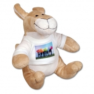 Maskotka Kangur 20cm z koszulką, Twój projekt Kangur