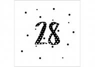 Zaproszenia Kropki, 14x14 cm
