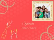 Zaproszenia Impreza sylwestrowa, 15x10 cm