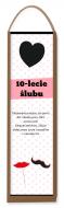 Skrzynka na wino, Rocznica ślubu, 35x10
