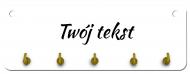 Wieszak na klucze MDF, Twój tekst, 10x28