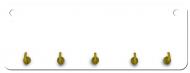 Wieszak na klucze MDF, Pusty szablon, 10x28