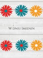 Fotokartki Imieniny, 10x20 cm