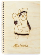 Notes Miś skateboarder, 15x21 cm