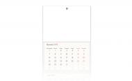 Kalendarz trójdzielny, Pusty szablon, 30x70
