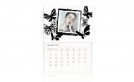 Kalendarz trójdzielny, Motyle, 30x70