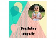 Zaproszenia Przyjęcie dziecka, 14x14 cm