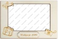 Ramka drewniana na zdjęcie Wakacje II, 16,5x11 cm