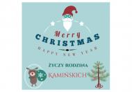 Magnes Życzenia świąteczne, 3,5x3,5 cm