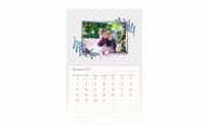 Kalendarz trójdzielny, Kropki, 30x70