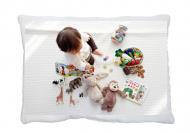 Poduszka minky, Bawełna/Minky, Poduszka dla niemowlaka płaska, 24x34 cm