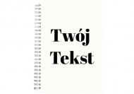 Notes przepiśnik Twój tekst przepiśnik, 15x21 cm