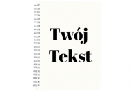 Notes klasyczny kropki Twój tekst kropki, 15x21 cm