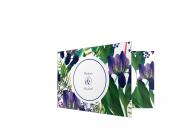 Zaproszenia Fioletowe kwiaty, 20x10 cm
