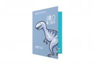 Zaproszenia Dinozaur, 10x15 cm