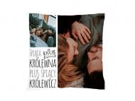 Poduszka, bawełna, Śpiąca królewna i śpiący królewicz, 25x25 cm