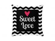 Poduszka, bawełna, Słodka miłość, 38x38 cm