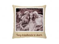 Poduszka, bawełna, Z albumu rodzinnego, 25x25 cm