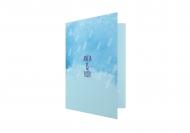 Zaproszenia Błękitne, 10x20 cm