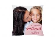 Poduszka, bawełna, Najlepsza mama, 25x25 cm