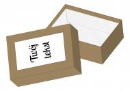 Pudełko kartonowe, Twój tekst, 11x15 cm