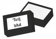 Pudełko kartonowe, Twój tekst, 16x11 cm