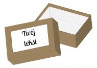 Pudełko kartonowe, Twój tekst, 15x11 cm