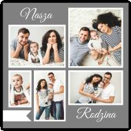 Plakat, Nasza Rodzina, 40x40 cm