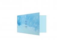 Zaproszenia Błękitne, 20x10 cm