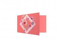 Zaproszenia Geometrycznie, 20x10 cm
